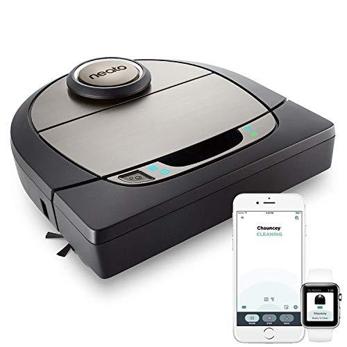 Neato Robotics D701 Connected - Compatibile con Alexa - Robot aspirapolvere con stazione di ricarica, Wi-Fi & App, 61 watt