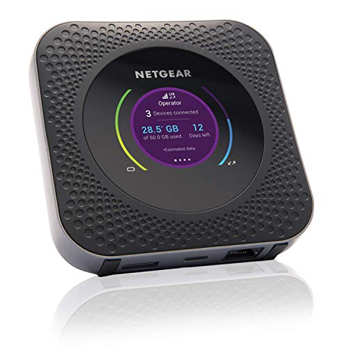 Netgear MR1100 Router 4G portatile, Nighthawk M1 velocità di download fino a 1Gbps, fino a 20 dispositivi collegati, durata Batteria 24 ore