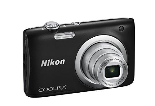 Nikon Coolpix A100 Fotocamera Digitale Compatta, 20.1 Mpx, Zoom 5X, HD, Nero [Nital card: 4 anni di garanzia]