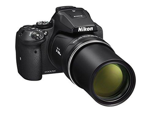 """Nikon Coolpix P900 Fotocamera Digitale Compatta, 16 Megapixel, Zoom 83X, VR, LCD 3"""", Full HD, Wi-Fi, GPS, GLONASS, QZSS, Nero [Nital Card: 4 Anni di Garanzia]"""