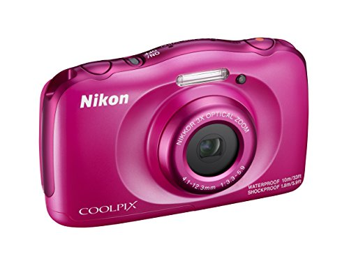 "Nikon Coolpix W100 Fotocamera Digitale Compatta, 13,2 Megapixel, LCD 3"", Full HD, Rosa [Nital Card: 4 Anni di Garanzia]"