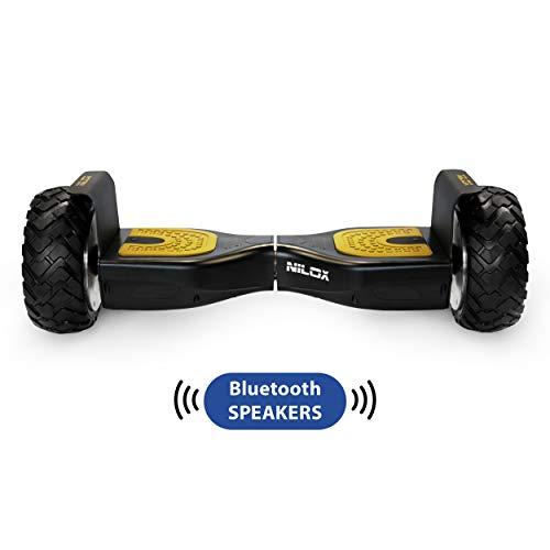 Nilox Doc Self Balance Scooter Elettrico Off Road Plus con Certificazione UL 2272, connessione Bluetooth, Nero