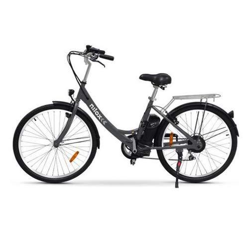 Nilox E Bike X5, Bicicletta Elettrica City Bike a Pedalata Assistita, Ruote 26'', Velocità 25km/h, Autonomia 55km, Nero