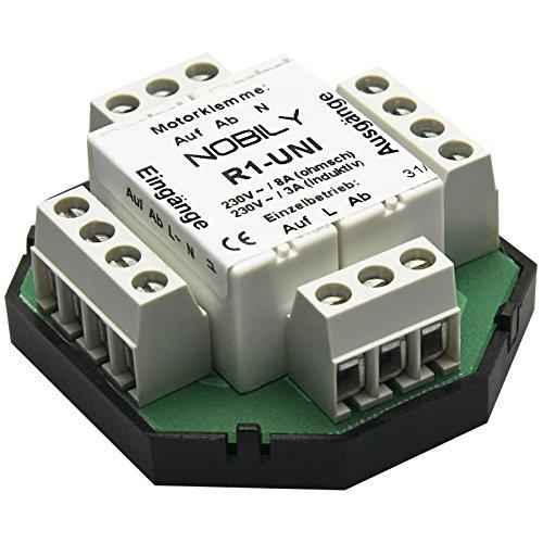 NOBILY - EAN 4260355821941 Relè per tapparelle R1-UNI (2 motori) centralina per motore tubolare tapparelle a rullo