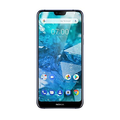 "Nokia 7.1 Smartphone da 32 GB (Espandibile fino a 256 GB), 3 GB di RAM, Dual SIM, Display da 5.84"" 19:9 Risoluzione Full HD+,Doppia Fotocamera Posteriore 12 MP/5 MP, Blu"