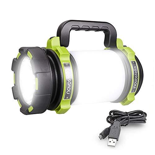 Novostella 1000LM Lanterna Torcia LED, 10W 4000mAh Portatile LED Tattico Ricaricabile, 4 Modalità Illuminazione LED Impermeabile da Campeggio, Pesca, Trekking, Emergenze Escursioni