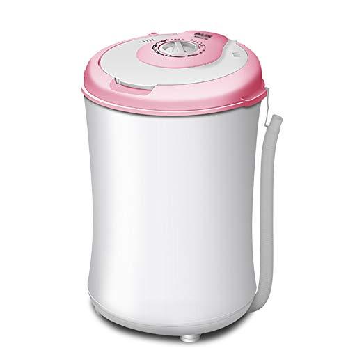 OCYE 3.2kg Lavatrice Compatta Portatile,Mini Lavatrice con Timer,con Funzione centrifuga,Appartamento,Campeggio,Rosa