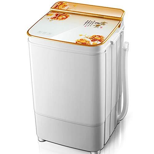 OCYE Mini Lavatrice,Lavatrice Portatile,Bucato Fino a 6 kg,con Timer,cestini di disidratazione,Salvaspazio e Compatta