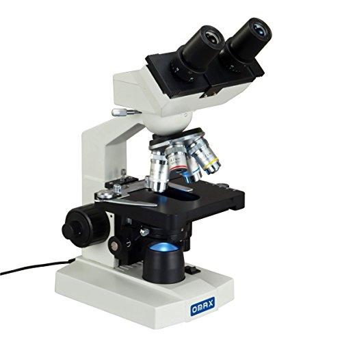 Omax 40x -2500x Lab Binocular Compound LED microscopio biologico con 3D da stadio e coassiale Coarse/fine a fuoco manopola