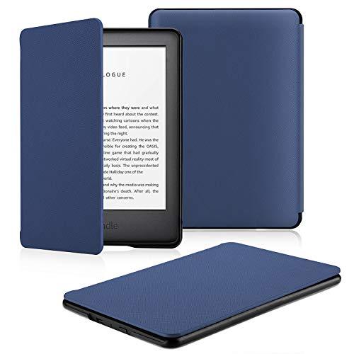 OMOTON Custodia Intelligente per Nuovo Kindle 2019 - Auto Wake/Sleep - Cover Sottile e Leggera in PU Pelle per Nuovo Kindle 2019, Blu
