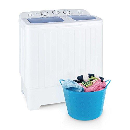 oneConcept Ecowash XL - lavatrice, mini-lavatrice, capacità 4,2 kg, 300 W, capacità centrifuga da 3 kg, centrifuga da 110 Watt, 2 programmi, silenziosa, acqua e risparmio energetico, bianco