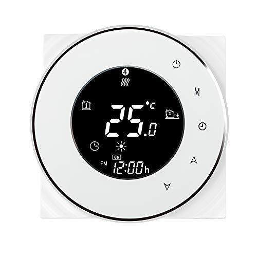 OWSOO Termostato per caldaia acqua/gas Smart WiFi Regolatore di temperatura Digitale Controllo APP Tuya/SmartLife Display LCD Controllo vocale Compatibile con Amazon Echo/Google Home
