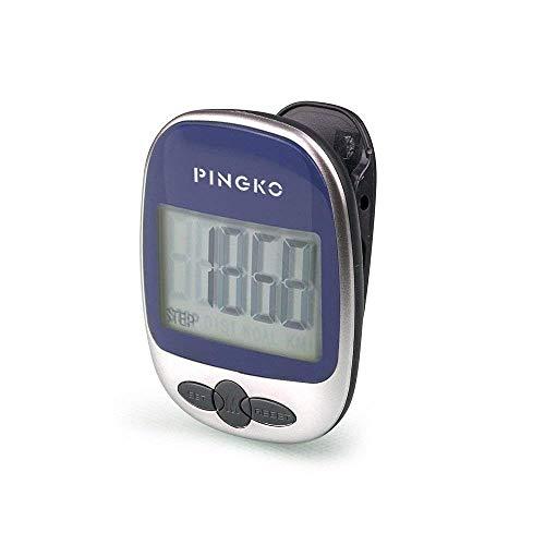 PINGKO Pedometro Contapassi Conta Passi Accuratamente Contapassi Sportivo Portatile Passi/distanza/calorie/ Contapassi per Fitness, Contatore di Calorie