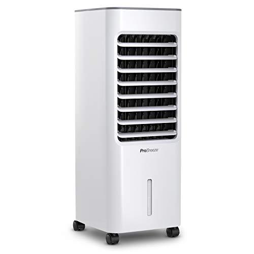 Pro Breeze® Raffrescatore Evaporativo 5L con 4 Modalità Operative, 3 Velocità della Ventola, Display LED e Telecomando. Raffreddatore ad Aria ad Alta Potenza con Timer