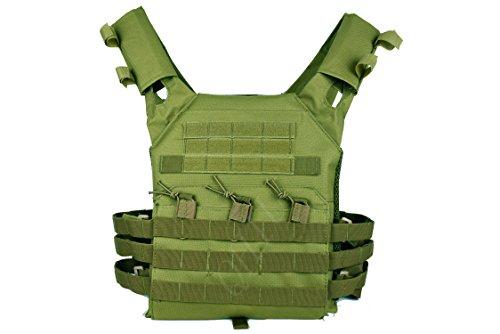 QHIU Gilet tattico Protezione Regolabile Leggero Camouflage Panciotto Giubbotti Militare Assault Combat Molle Vest per Softair Paintball Caccia CS Sport all'Aria Aperta