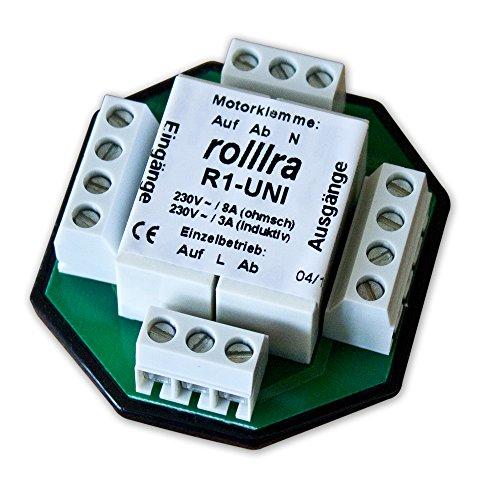 Rollra - Trennrelais R1-UNI, Meccanismo di avvolgimento elettrico per tapparelle, centralizzato