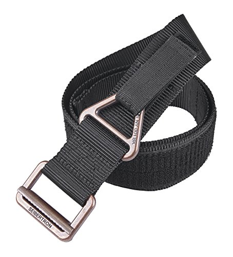 "Seibertron Nylon Tactical Belt Security Special Operations Belt Tattica di alta qualità TDU Cintura larghezza 4,5 CM Black Fit waistline 30""- 40"""
