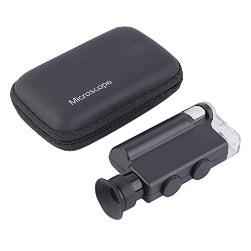 SEN Pocket Microscope 200-240X Illuminatore Portatile Illuminato LED Luce UV Nero Portatile