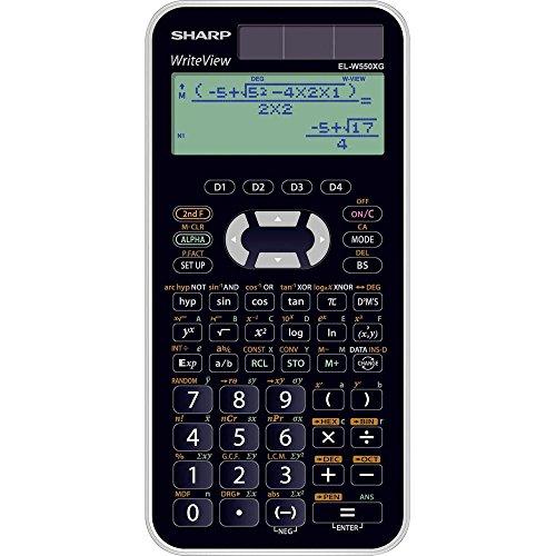 Sharp EL-531W550X G Calcolatrice Scientifica per Baden-Württemberg e Bayern adatto, nero