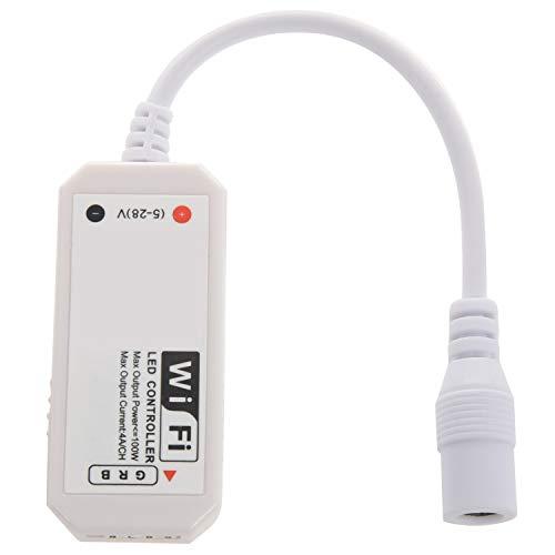 SODIAL Telecomando WiFi LED funziona con Alexa/Google Home Voice Control per 5050/3528 Luci LED RGB Cambia/Dimmer / Timer/Funzione attivata dal suono - Controllo iOS/Android APP gratuito