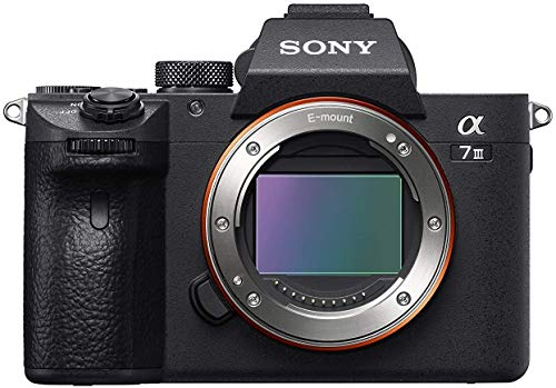 Sony Alpha 7M3 Fotocamera Digitale Mirrorless Full-Frame con Obiettivo Intercambiabile, Sensore CMOS Exmor da 24.2 MP, video 4K HDR30 fps, Stabilizzazione Integrata a 5 Assi, Dual Slot, Nero