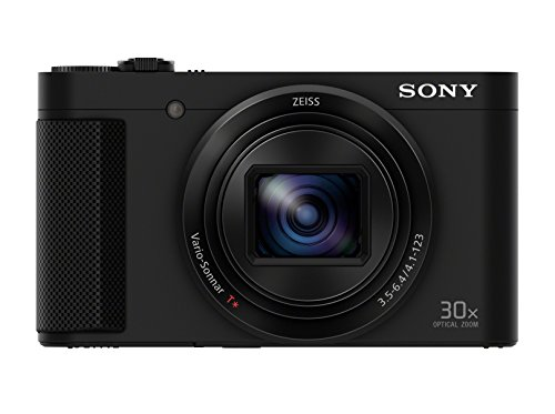 Sony Cyber-shot DSCHX80 Fotocamera Compatta 18.2 MP, Sensore CMOS Exmor R, Obiettivo Zeiss, Zoom Ottico 30x, 10 fps, Nero