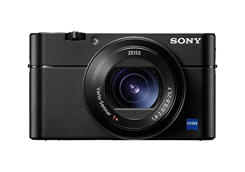"""Sony DSC-RX100M5 Fotocamera Digitale Compatta Cybershot da 20.1 Megapixel, Sensore CMOS Exmor RS da 1"""", Obiettivo Zeiss Vario-Sonnar T con Zoom Ottico 2.9x, Nero"""