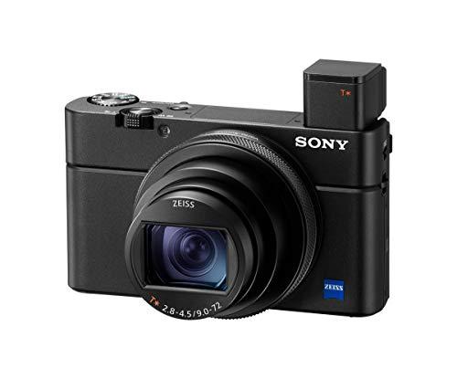"""Sony RX100 VII Fotocamera Digitale Compatta Premium con Sensore da 1"""", Ottica Zeiss 24-200mm F2.8-4.5, Elevate prestazioni di AF e velocità, Registrazione Video 4K HDR, Nero"""