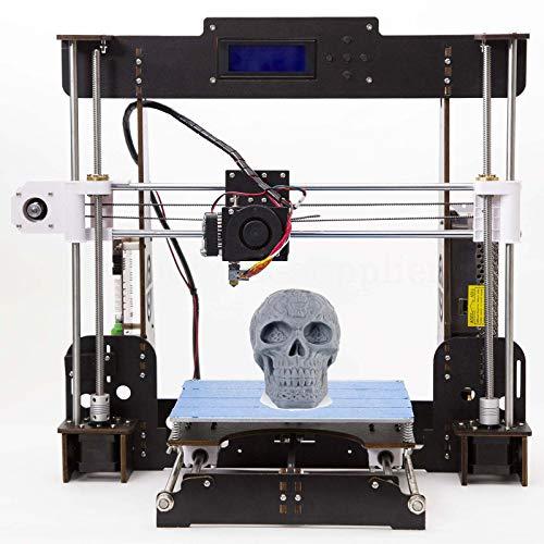 Stampante 3D A8 Prusa I3 Desktop 3D Printer, Stampante 3D desktop di alta precisione, Stampante con ABS/PLA 1,75 mm (Stampante 3D A8-Y5)-Tigtak (Stampanti 3D-W5)