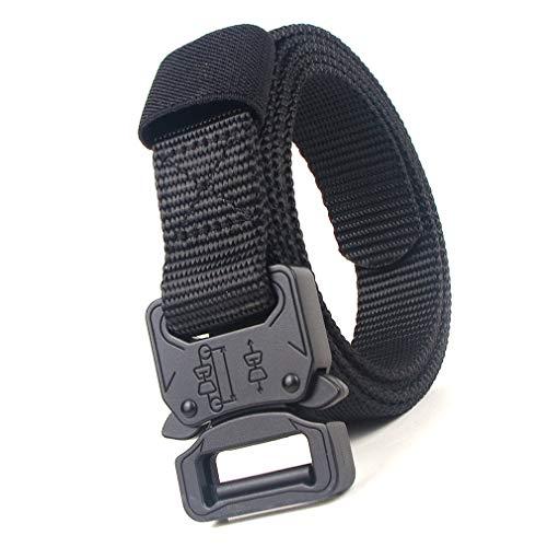 Tactical Belt Heavy Duty Canvas Belt Riggers militare Cintura in tessuto con fibbia a sgancio rapido (nero)