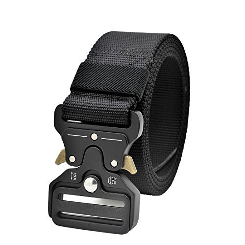 Tactical Rigger MOLLE Belt Quick Release Gear Clip Metal Buckle Compact Rappel CQB Military Web Nylon Outdoor Sport Men EDC Operator Waist Band