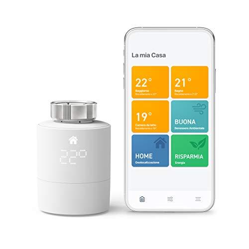 tado° Testa Termostatica Intelligente Kit di Base V3+, Gestione Intelligente del Riscaldamento, Installazione Fai da Te, Progettato in Germania
