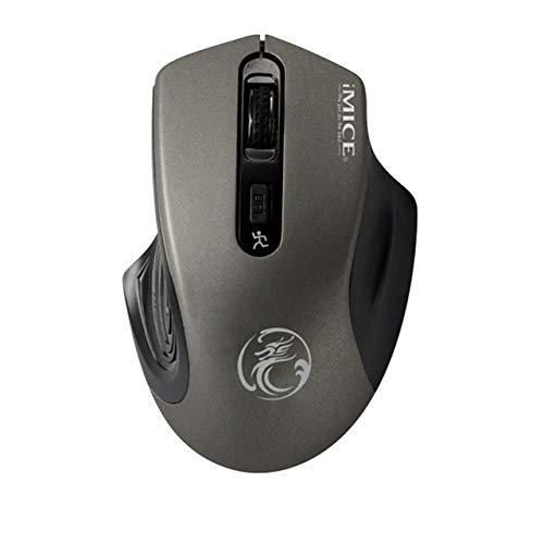 Tech Stor3 Mouse Verticale Wireless Ottico Senza Fili | 6 Tasti | Design ergonomico - previene Il Tunnel Carpale (sindrome RSI) - Colore Bianco con retroilluminazione