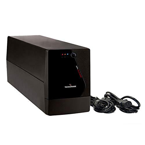 TECNOWARE Gruppo di Continuità UPS ERA PLUS 2600. Potenza 2600 VA, Doppia Batteria, Autonomia fino a 20 min. con 2 PC Windows - Stabilizzazione AVR - USB e Software per UPS TecnoManager Win/Mac.
