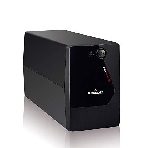 Tecnoware Gruppo di Continuità UPS ERA PLUS 750, Potenza 750 VA, Autonomia fino a 10 min con 1 PC o 40 min con Modem Router, Stabilizzazione AVR