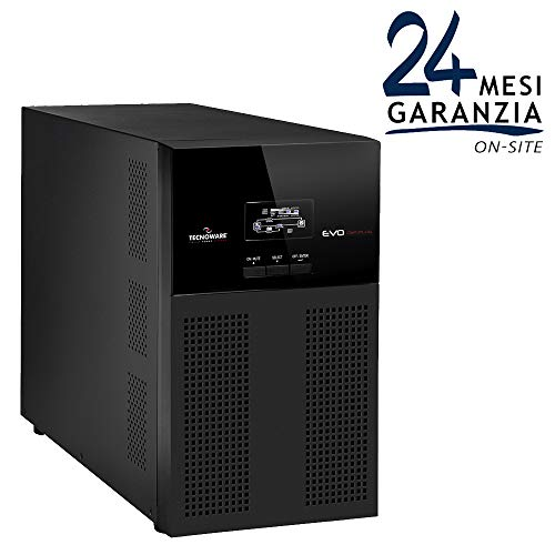 TECNOWARE Gruppo di Continuità UPS EVO DSP PLUS 4500. Potenza 4500 VA - Tecnologia On Line Doppia Conversione. Autonomia Fino a 20 min - Bypass - Software per UPS TecnoManager Win/Mac