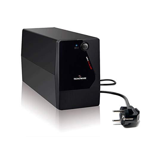 Tecnoware UPS ERA PLUS 1100 Gruppo di Continuità, Potenza 1100 VA, Autonomia fino a 17 min con 1 PC o 60 min con Modem Router, Stabilizzazione AVR, USB e Software per UPS TecnoManager Win/Mac