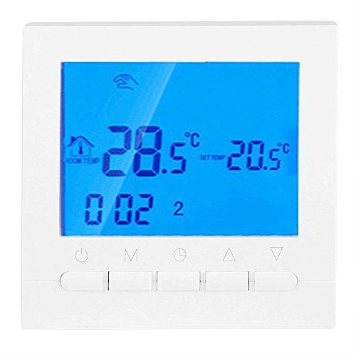 Termostato Caldaia Wifi Programmabile Digitale Caldaia Controller Controllo Remoto Online Tramite Smartphone Con Schermo LCD e Impostazioni Protezione Bianco Riscaldamento Elettrico