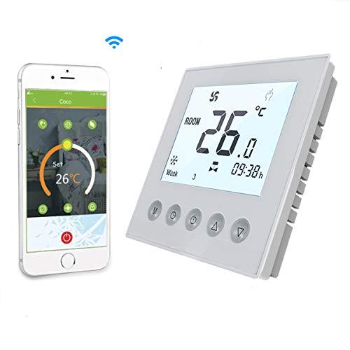 Termostato WiFi per Caldaia a Gas/Acqua,Termostato intelligente Schermo LCD(Schermo display positivo) Programmabile con Telefono APP e Alex Google Assistant IFTTT