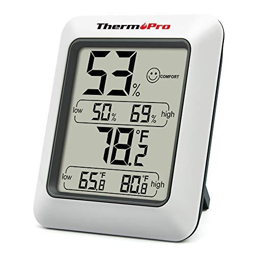 ThermoPro TP50 Termometro Igrometro Digitale per Ambiente Misuratore di Umidità e Temperatura Interno per Casa Termoigrometro Professionale per Misura Stanza