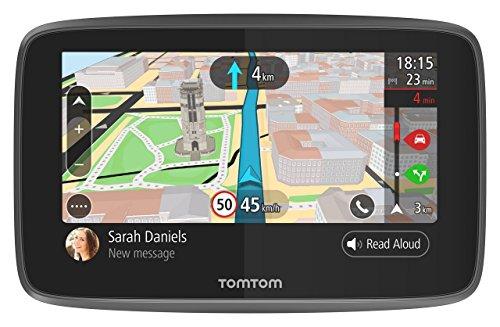 """TomTom GO 5200Navigatore GPS per Auto, Display da 5"""", Scheda SIM Integrata, Aggiornamenti Tramite Wi-Fi, Chiamate Hands-Free, Nero [Francia]"""