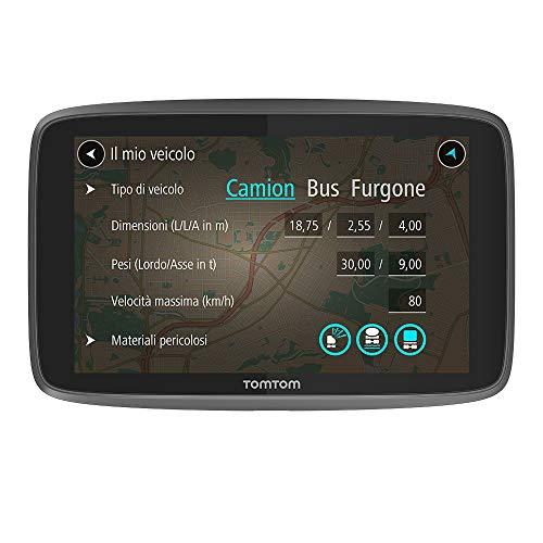"""TomTom Go Professional 520 Navigazione Professionale per Veicoli di Grandi Dimensioni, Connessione Tramite Smartphone a Vita, 5"""", Nero"""