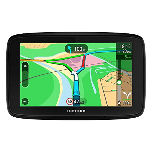 """TomTom Via 53 Europa 45 GPS per Auto, Display da 5"""", Mappe a Vita, Aggiornamento Tramite Wi-Fi, Nero"""
