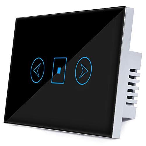 TOOGOO Interruttore Luce Dimmer Wifi Alexa Intelligent Voice Control App Interruttore Controllo Remoto Intelligente (Nero)