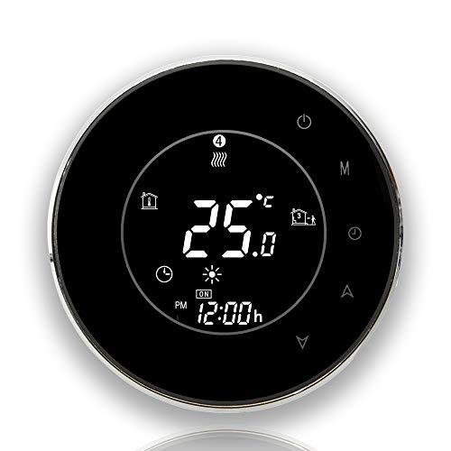 Touch screen LCD BECA serie 6 / 16A LCD / elettrico / riscaldamento della caldaia Termostato di controllo della programmazione intelligente con connessione WIFI (Riscaldamento della caldaia, Nero)