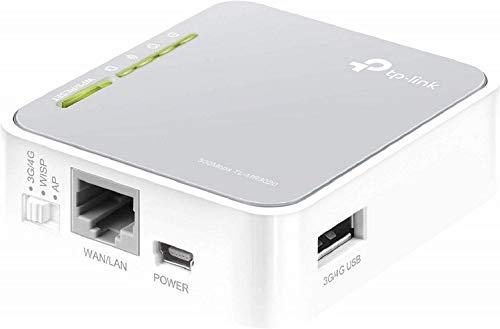 TP-Link TL-MR3020 Router Wireless Portatile 3G/4G, 5 Modalità Operative: Router / Router 3G 4G / Router WISP / AP / Ripetitore, Design da Viaggio