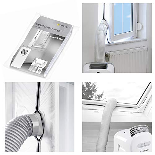 TROTEC AirLock 100 guarnizione per finestre | per climatizzatori ed essiccatori con scarico esterno dell'aria | Hot Air Stop