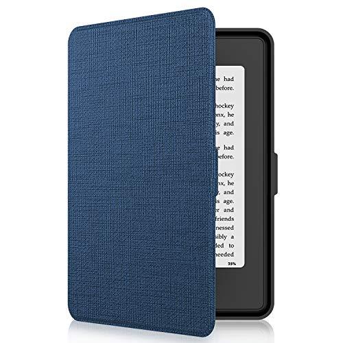 Tsing Kindle Paperwhite Custodia in Pelle Sintetica Chiusura Magnetica Ultra Sottile - Compatibile con de Kindle Paperwhite 1/2/3 (Blu)
