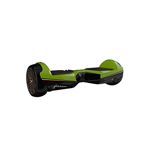 Twodots Hoverboard Glyboard Veloce Lamborghini Corse, Ruote 6.5'', Verde