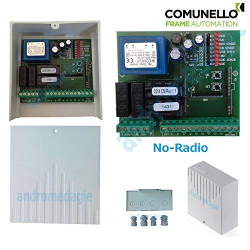 Unità di Controllo 230V NO-RADIO per automazione di serramenti, lucernai, tapparelle, tende da sole, con possibilità di connessione dei Sensori Vento - Pioggia